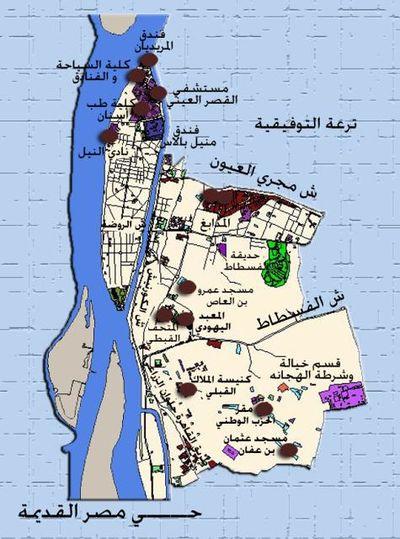 خريطة حي مصر القديمة