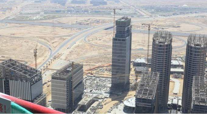 أبراج العلمين الجديدة - مراحل البناء